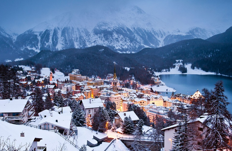 St. Moritz in the winter time