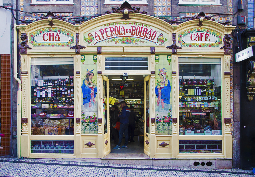 Traditional local shop in Porto