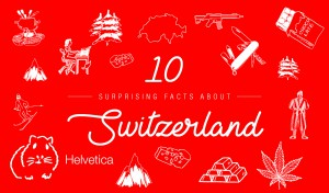 10 facts about Switzerland infographics