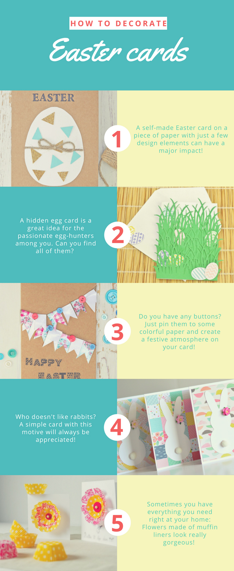 how to decorate easter cards