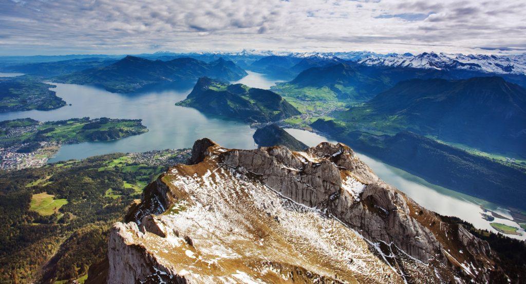 Mount Pilatus Swiss Alps view